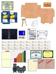 Miniature Printables - Office Supplies