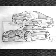 Concept Peugeot. Serafini design. Sketch. Car. Draw. Sketching. Only pencil.