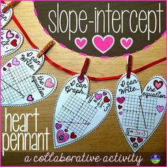 Slope-intercept Heart Pennant