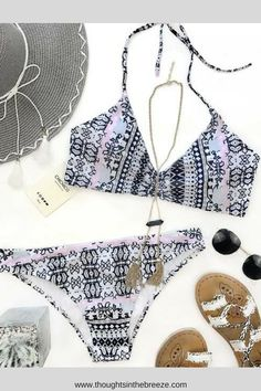 $26.99 Chicnico Gypsy Two Piece Floral Print Bikini Set. Looking for the perfect swimsuit for summer? Fashionable swimsuits for summer and spring break.  Looking for a bikini, one piece or tankini- check out the great selection! Suits for those who are modest, curvy, sporty,  moms, or teens, they have flattering swimsuits for any body shape. #bikini, #swimsuits, #tankini, #onepiece, #summerfun, #affiliate, #summerfashion, #fashion, #springbreak