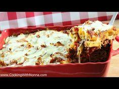 The Best BAKED ZITI Recipe EVER: Baked Ziti With Italian Sausage - YouTube