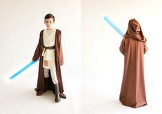 Star Wars Obi-wan costume with brown robe. Kids Star Wars Costumes, Jawa Costume, Star Wars Halloween, Diy Halloween Costumes, Costume Ideas, Halloween 2015, Cosplay Ideas, Halloween Ideas, Outfits