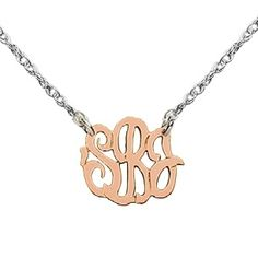 I this petite monogram necklace for my self in 14k gold and sterling chain.