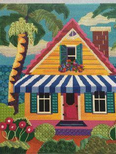 needlepoint house