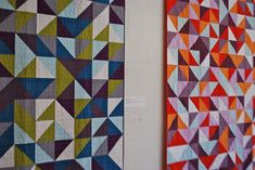 half-square triangle quilts  I think these are beautiful!!  Makes me want to get busy!
