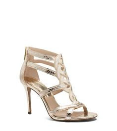 Branson Leather and Snakeskin Sandal by Michael Kors