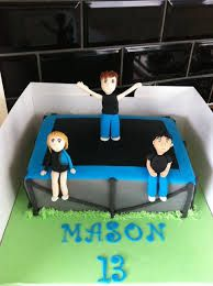 trampoline cake ideas Themed Birthday Cakes, Boy Birthday Parties, 10th Birthday, Themed Cakes, Birthday Ideas, Trampoline Cake, Work Folders, Boys Food, Movie Party