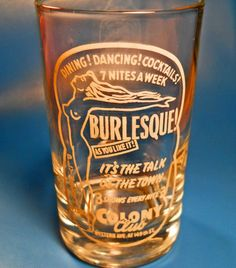 A vintage glass from LA's Colony Club.