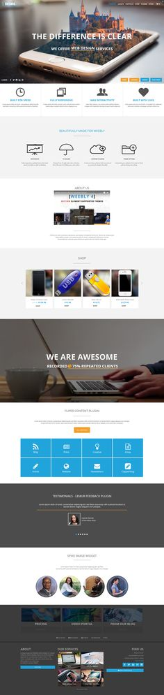 Desire #weebly #website theme, professional and sharp looking #website #template perfect for informational and #ecommerce uses. Download at http://www.roomythemes.com/desire-theme