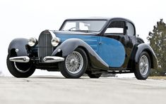 """1937 Bugatti Type 57 Ventoux - The Bugatti Type 57 was new for 1934. It featured a 3.3-liter straight-eight making 135 horsepower. Bugatti themselves bodied many of the cars, with this being the """"Ventoux"""" two-door saloon."""