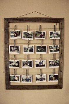 DIY photo frames are a dime a dozen but this one in particular is particularly nice. Read on for the steps on how to do it yourself!