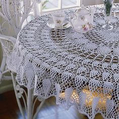 Leisure Arts - Carnation Splendor Tablecloth Thread Crochet Pattern ePattern, $4.99 (http://www.leisurearts.com/products/carnation-splendor-tablecloth-thread-crochet-pattern-digital-download.html)