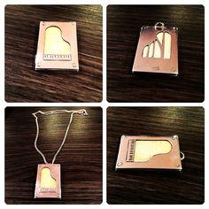 Colgante de Plata con Tecla de #Marfil reutilizada, diseño #piano, #hechura #hechoamano / Silver and #ivory key reused necklace, #piano design #hechura #handmade