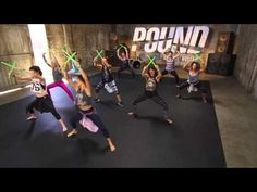 POUND Rockout. Workout. with Bethan. UK class 2015 - YouTube