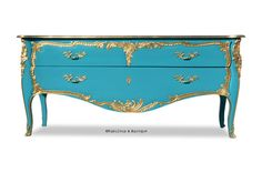 French Louis Baroque Styled Commode Chest of Drawers Sideboard Aqua Blue Dresser Baroque Furniture, French Furniture, Painted Furniture, Blue Dresser, Modern Baroque, Interior Decorating, Interior Design, Interior Styling, Decorating Ideas