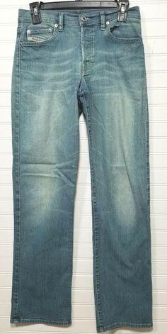 de4165cc Diesel Industry Jeans Denim Division Mens 28x31 Button Fly Light Wash Italy  #Diesel #RegularStraightLeg
