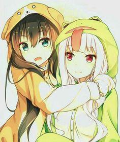 anime and kawaii image Anime Girlxgirl, Anime Chibi, Otaku Anime, Yuri Anime, Chica Anime Manga, Manga Girl, Kawaii Anime Girl, Manga Kawaii, Anime Art Girl