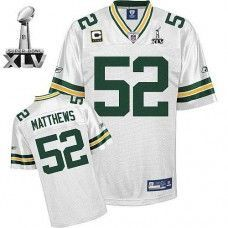 71f4af01d Packers  52 Clay Matthews White With Super Bowl XLV and C patch Stitched NFL  Jersey