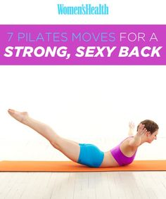 7 Pilates Moves for a Strong, Sexy Back. note that for the swan dive it is better to keep your arms reaching forward and for the scissors your spine should be in neutral i.e pelvis will feel heavier in your hands (like a bowl of fruit) Pilates Training, Pilates Moves, Yoga Pilates, Pilates Workout, Fitness Pilates, Workouts, Workout Exercises, Workout Fitness, Fitness Tips
