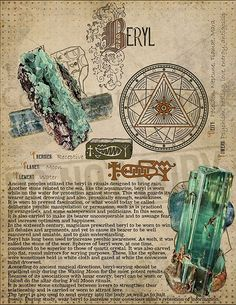 Book of Shadows Printable pages of Crystals and Minerals Witchcraft BOS Sheets Magic Potion Spell Ingredient Witch encyclopedia 6 DIY Wiccan Spells, Witchcraft, Crystals And Gemstones, Stones And Crystals, Magic Herbs, Herbal Magic, Grimoire Book, Witch Spell, Crystal Magic