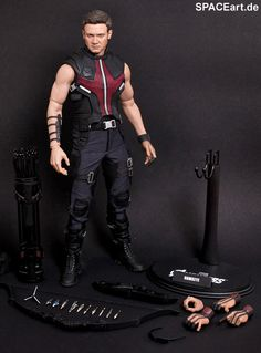 """jeremy renner as """"hawkeye"""" in """"the avengers"""" – perfect action figure by hot toys Superhero Man, Clint Barton, Sideshow Collectibles, Jeremy Renner, Collectible Figurines, Hawkeye, Comic Character, Cool Toys, Awesome Toys"""