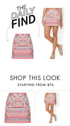 """""""The Daily Find: Accessorize Embroidered Skirt"""" by polyvore-editorial ❤ liked on Polyvore featuring Accessorize and DailyFind"""