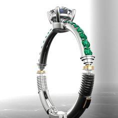 Star Wars-inspired lightsaber ring