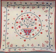 Appliqued quilt  Estimated date 1840-1880