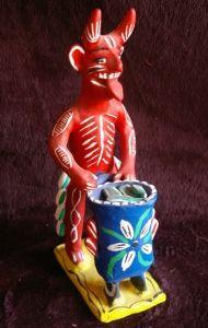 Ocumicho Diablo, Mexican ceramic / Mexico / red / devil