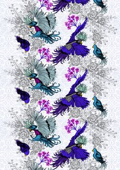 Paratiisi (pink) - By Tanja Orsjoki Line Flower, Jrr Tolkien, Fabric Patterns, Fall Winter, Fabrics, Shapes, Flowers, Pink, Helsinki