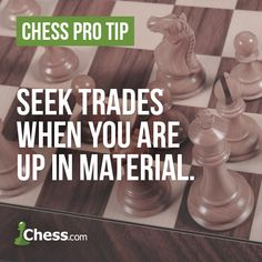 A well-timed trade of pieces can make winning easy. Chess Basics, Chess Quotes, Chess Strategies, How To Play Chess, Family Tree Chart, Kings Game, Classic Board Games, How To Get Better, Adult Games