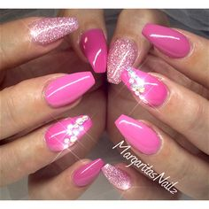 Pink Ballerina Nails  by MargaritasNailz from Nail Art Gallery