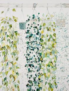 art by emily ferretti via a billion tastes and tunes #art #plants #leaves