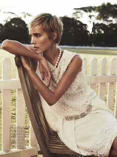 Isabel Lucas by Nicole Bentley for Vogue Australia December 2013 I'm ready to start growing out my hair a bit now that most of the dye is out.