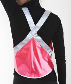 VESP, Eco Cotton Candy - Reflective vest for visibility while running\biking.