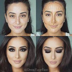 Contorno maquiagem