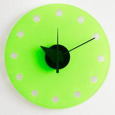 Acrylic,perspex,plexiglas,handmade,clock,watch,wall by PingPongDesign, €87.00