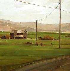 "2010, Rural Road by Joseph Alleman Oil ~ 12"" x 12"""