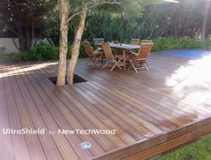 NewTechWood® is a pioneer in the development and manufacture of composite decking boards. We have earned a worldwide reputation for innovative wood plastic composite materials. Composite Decking, Backyard Ideas, Decks, Mexico, Boards, Places, Garden, Outdoor Decor, Projects