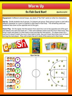Go Fish Card Hunt Instant Activity - @pe4everykid