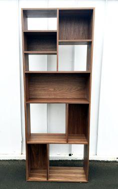 Mid century modern bookcase shelf shelving book case by MonkeHaus