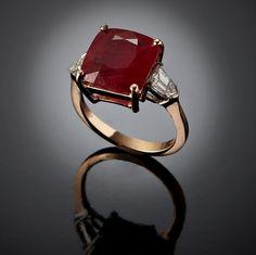 A burmese ruby ring