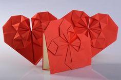 #zaproszenia ślubne #serca #origami