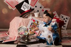 These are some awesome themed photoshoots for your little ones. I really love the Peter Pan picture (even if it's just because they found a stuffed Nana)