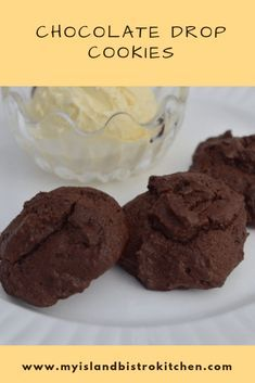 August 2013 Cookie of the Month: Chocolate Drop Cookies - My Island Bistro Kitchen Baking Recipes, Dessert Recipes, Desserts, Dessert Ideas, Chocolate Drop Cookies, Drop Cookie Recipes, Cool Lunch Boxes, Pumpkin Cookies, Chocolate Flavors