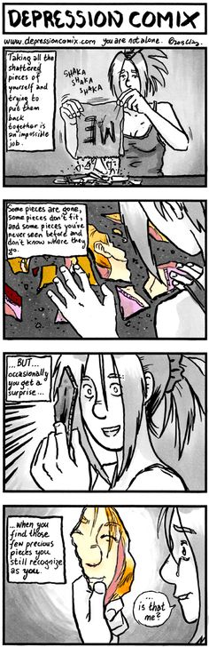 Depression Comix - Picking up the pieces again