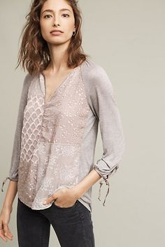 Patchwork Juliette Top #anthropologie