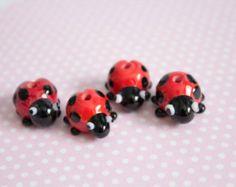 Ladybird Lampwork Beads - £4.20 each https://www.etsy.com/uk/listing/275138426/ladybird-beads?ref=shop_home_active_12