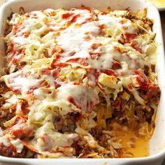 Ingredients 4 cups shredded cabbage 1 cup grated carrot 1/2 cup chopped green onions 1/2 cup liquid egg substitute 1 cup skim milk 6 tbsp shredded Swiss cheese 1/2 tsp seasoned salt 2 tbsp minced
