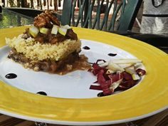 Italian Chicory and pears Cous Cous with balsamic vinegar